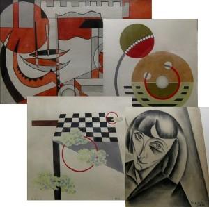 Collage mit Kunstwerke von Künstler BENN / Коллаж работ художника БЕННа