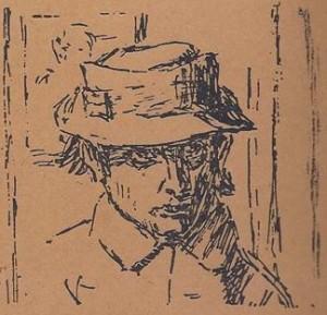 Benn. Kopf mit dem Hut, 1932 Benn. / Голова в шляпе, 1932 г.